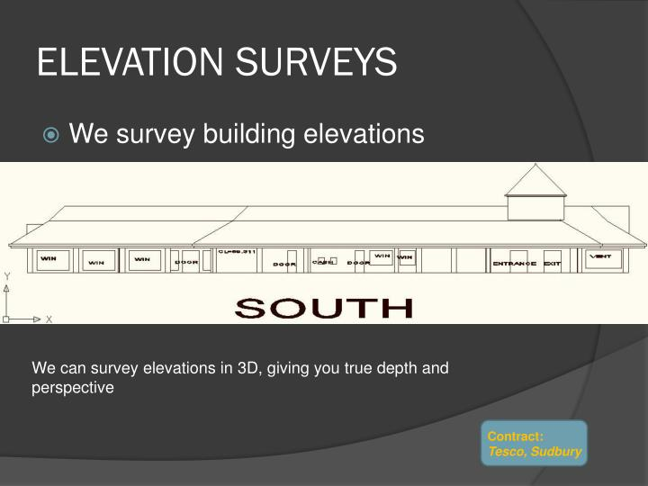 Elevation surveys