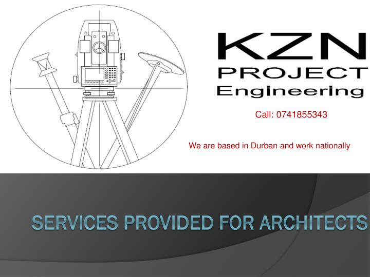 Services provided for architects