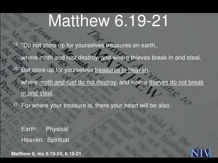 Matthew 6.19-21