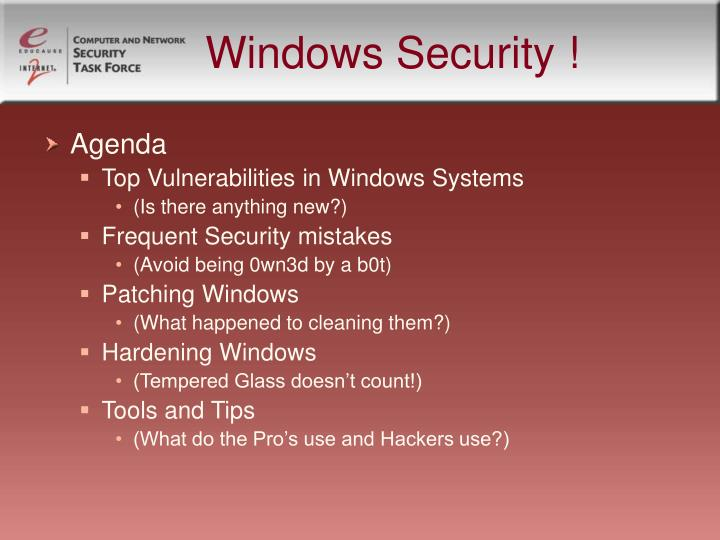 Windows Security !
