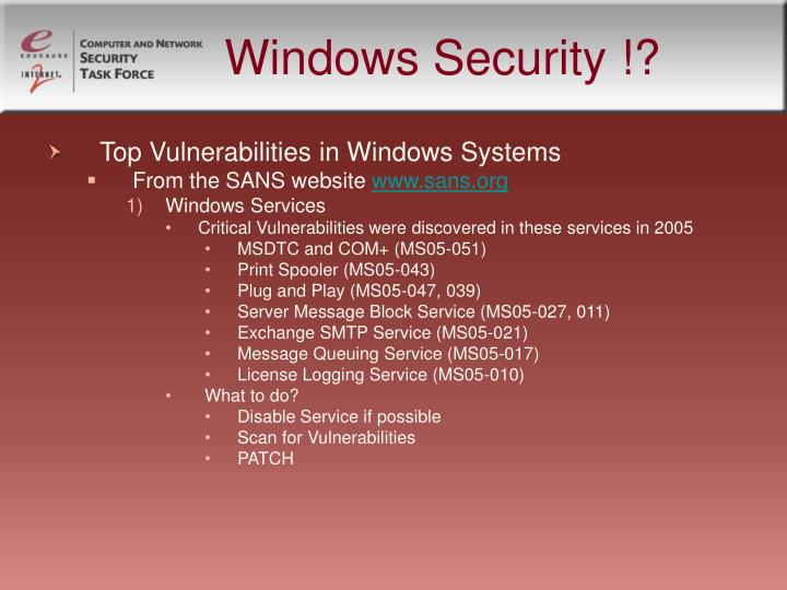 Windows Security !?