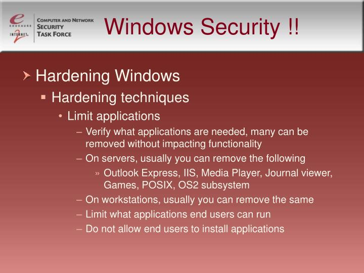 Windows Security !!