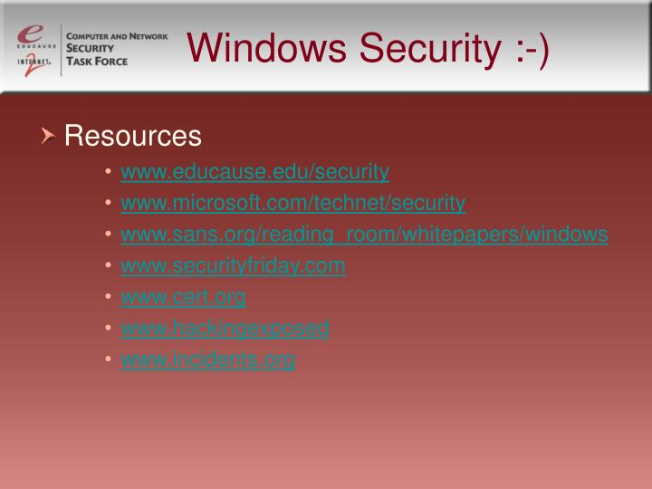 Windows Security :-)