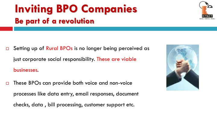 Inviting BPO Companies