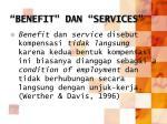 benefit dan services