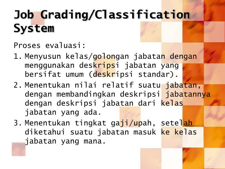 Job Grading/Classification System
