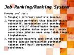 job ranking ranking system