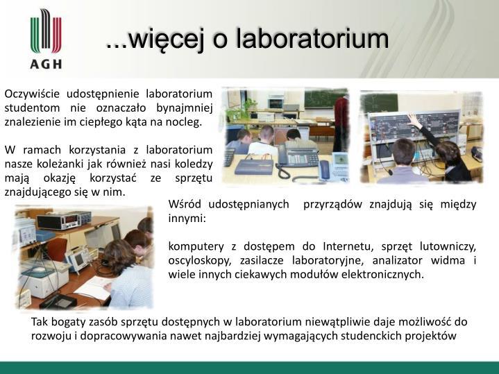 ...więcej o laboratorium
