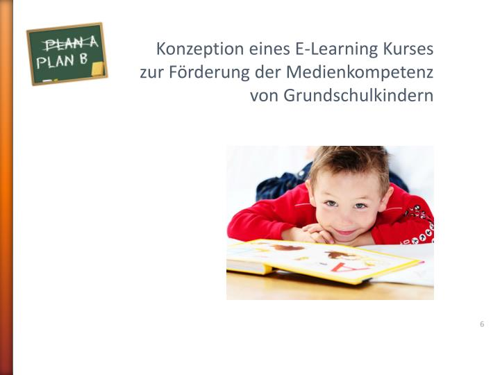 Konzeption eines E-Learning Kurses