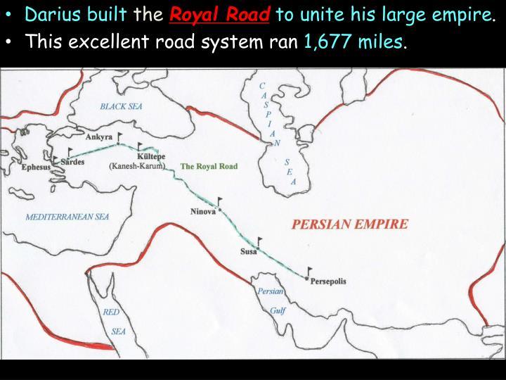 Darius built