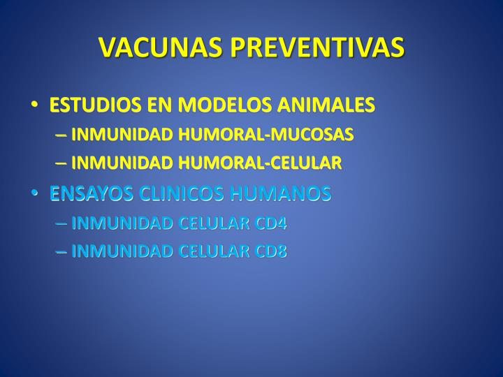 VACUNAS PREVENTIVAS