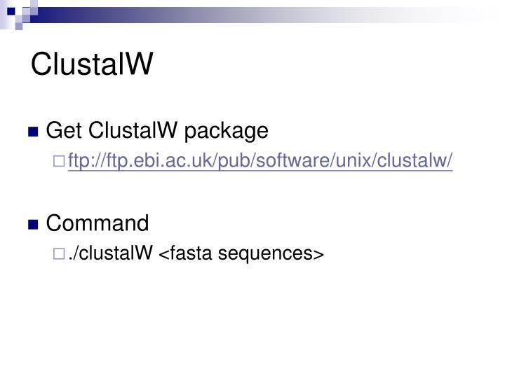 ClustalW