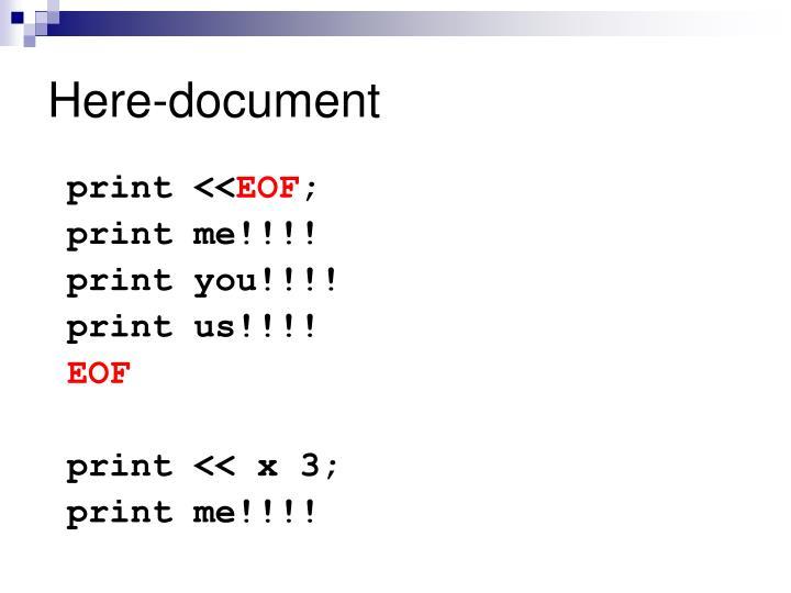 Here-document