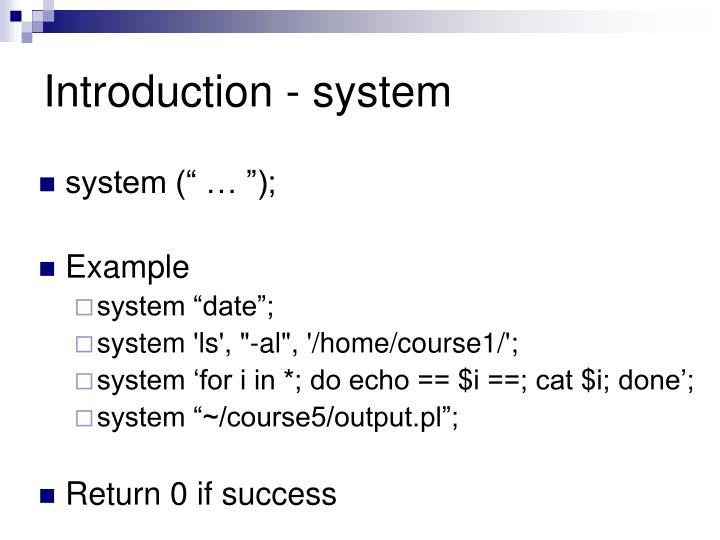 Introduction - system
