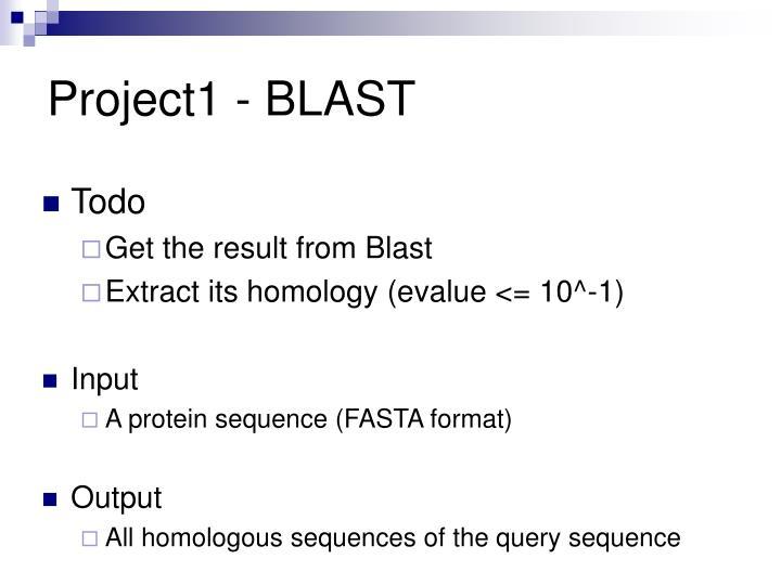 Project1 - BLAST