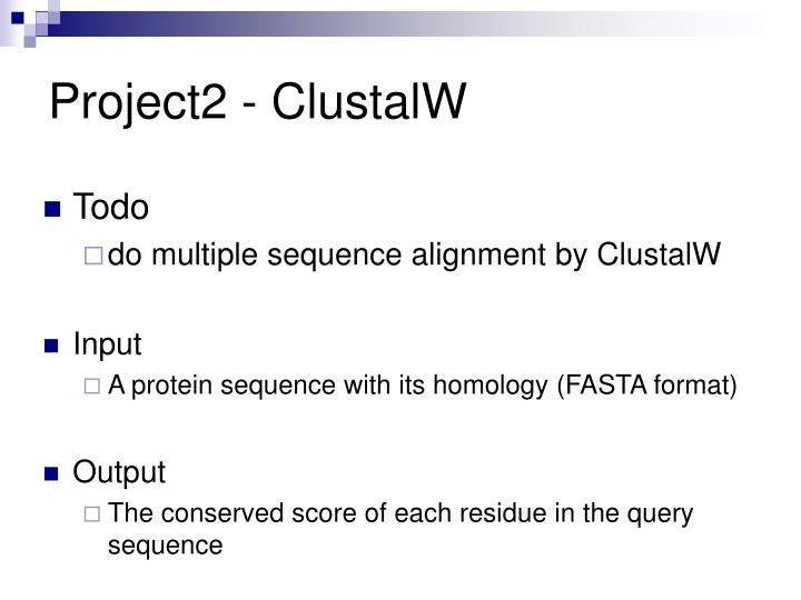 Project2 - ClustalW