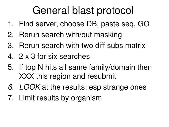 General blast protocol