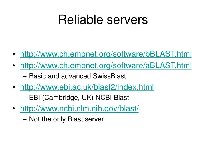 Reliable servers