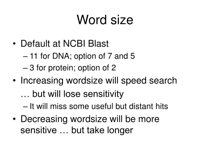 Word size
