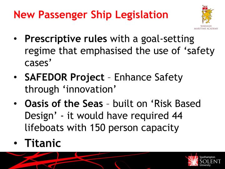 New Passenger Ship Legislation