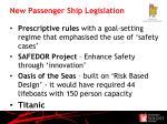 new passenger ship legislation