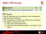 wma s fpd survey