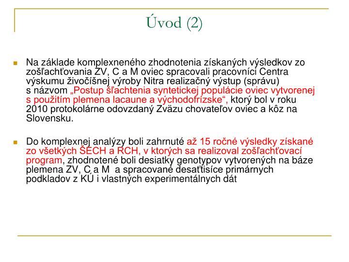 Úvod (2)