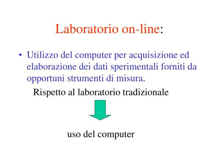 Laboratorio on-line