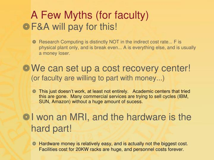 A Few Myths (for faculty)