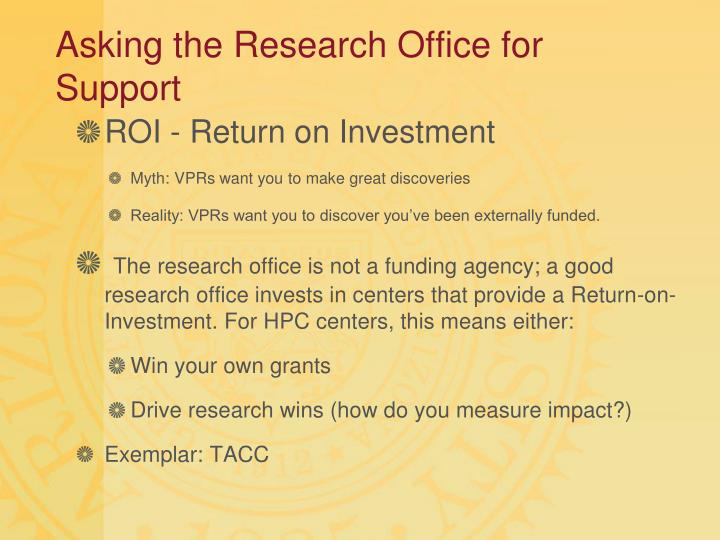 Asking the Research Office for Support