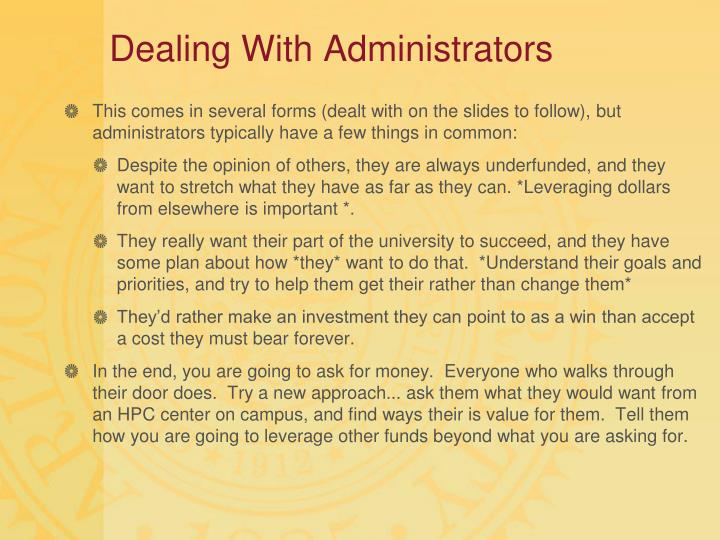 Dealing With Administrators