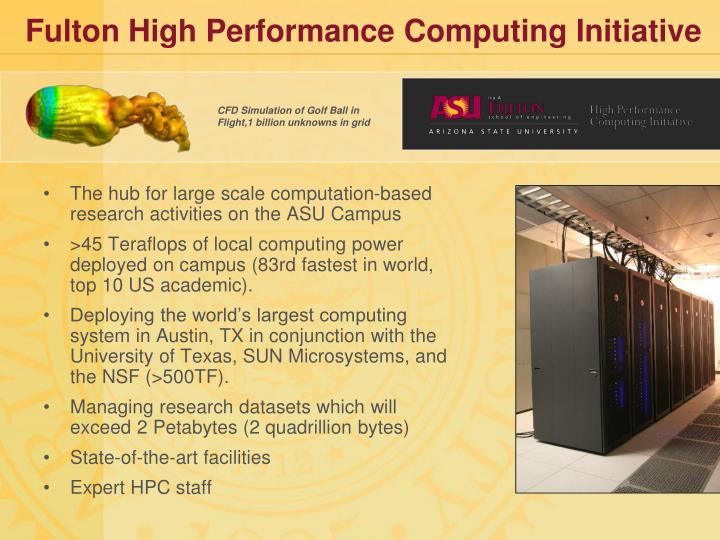 Fulton High Performance Computing Initiative