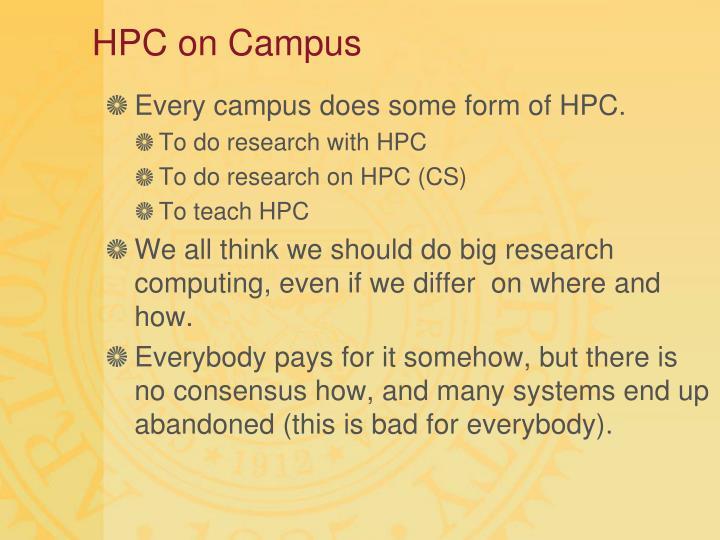HPC on Campus