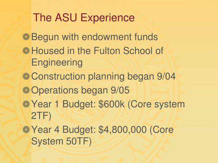 The ASU Experience