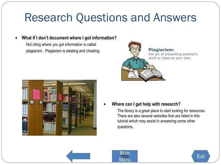 Research Questions and Answers