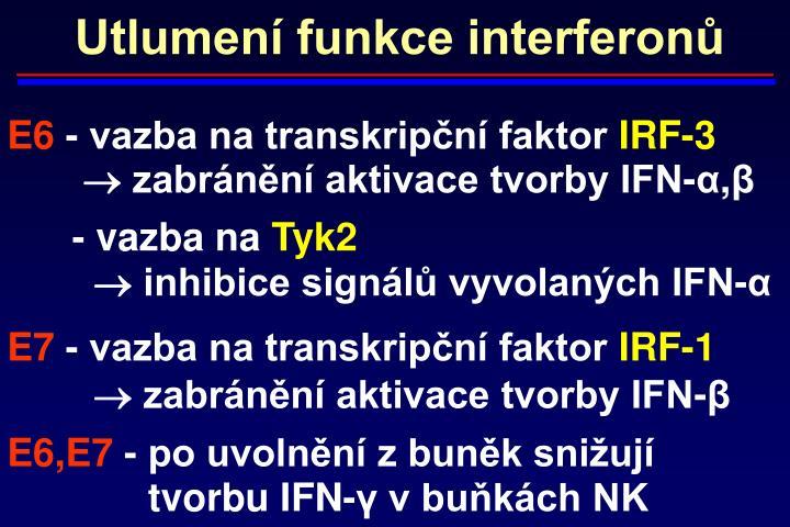 Utlumení funkce interferonů
