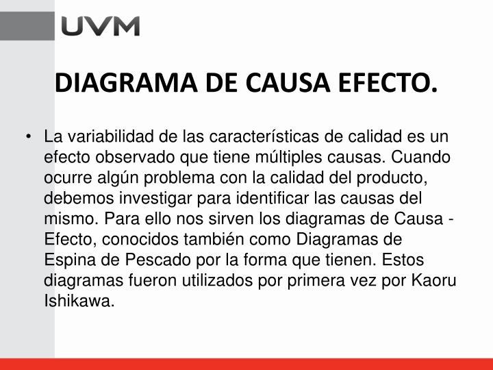 DIAGRAMA DE CAUSA EFECTO.