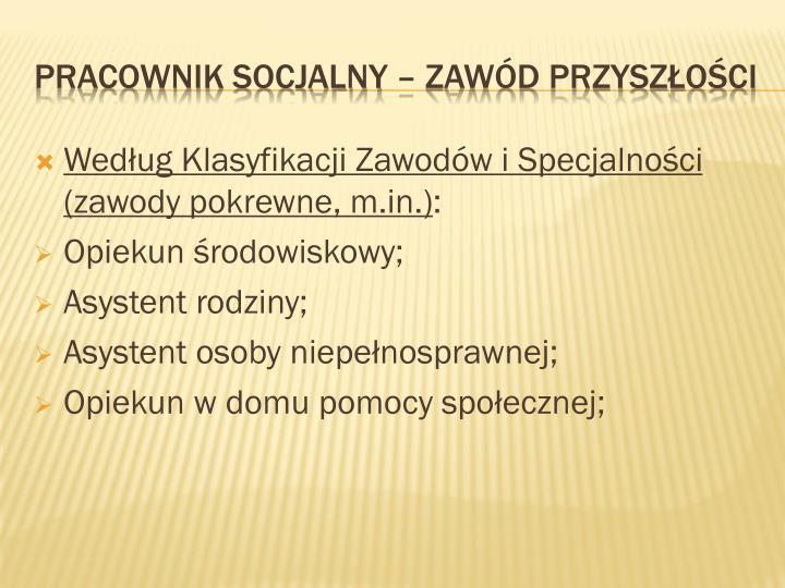 Według Klasyfikacji Zawodów i Specjalności (zawody pokrewne, m.in.)