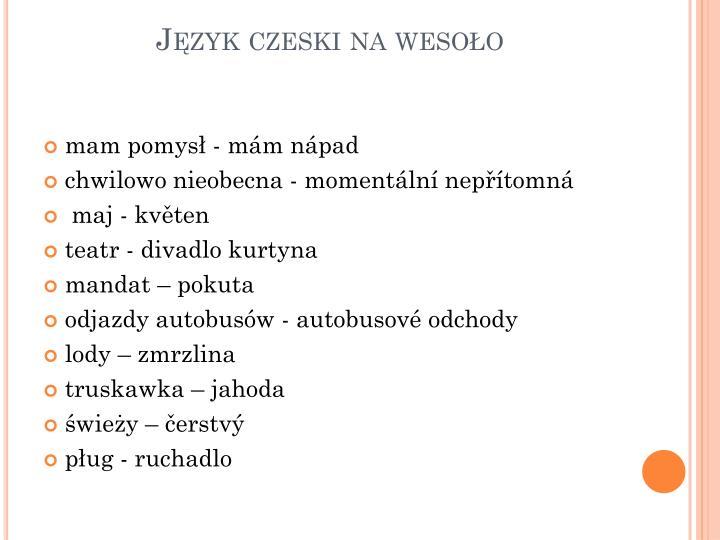 Język czeski na wesoło