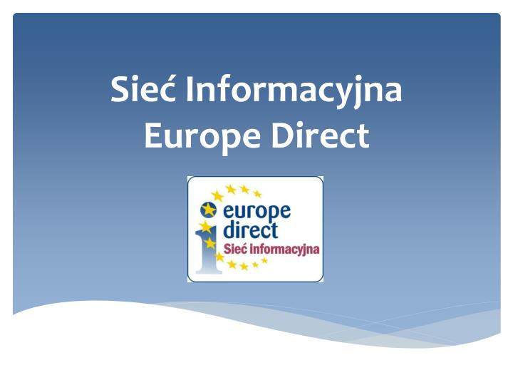 Sie informacyjna europe direct