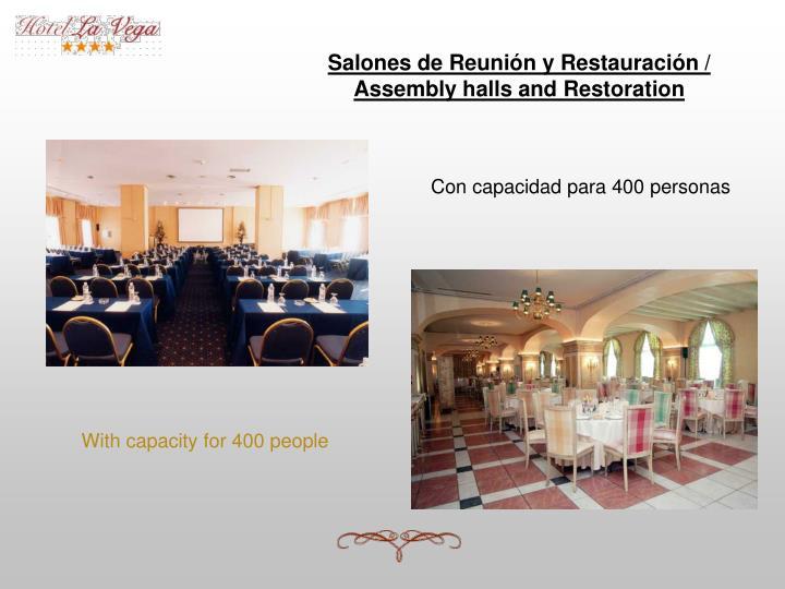 Salones de Reunión y Restauración /