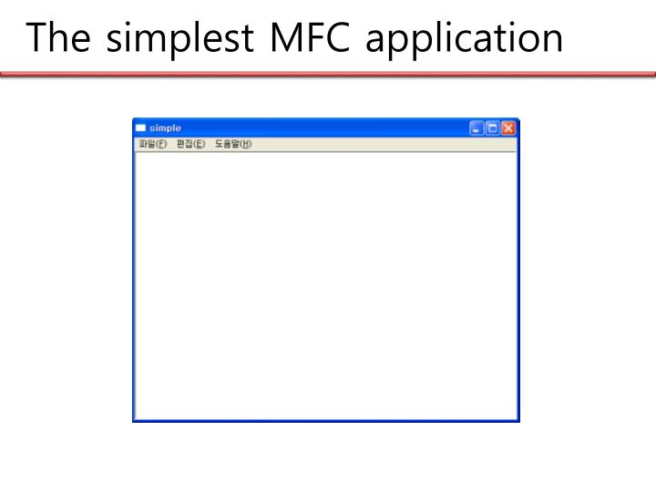 The simplest mfc application