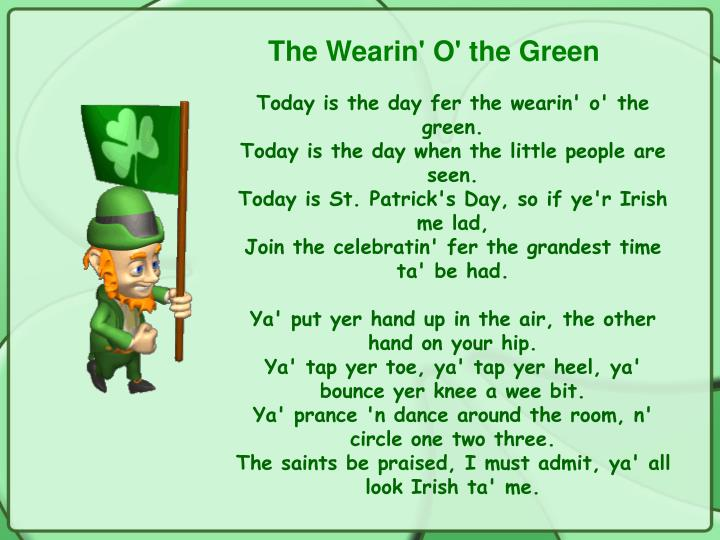 The Wearin' O' the Green