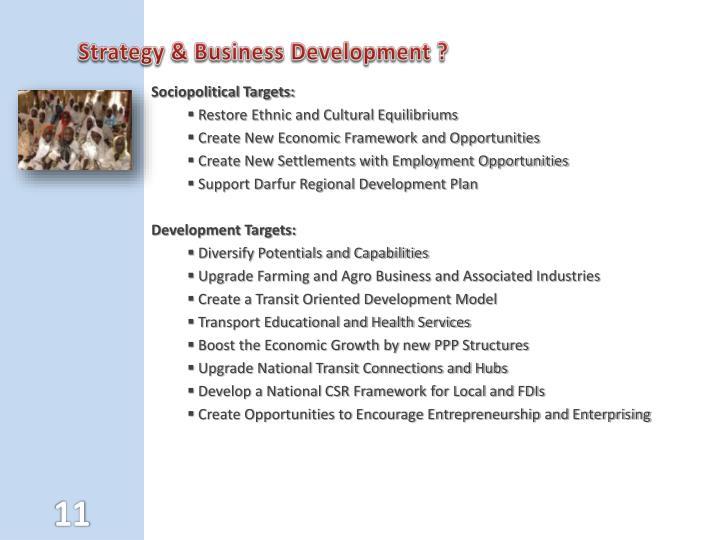 Strategy & Business Development ?