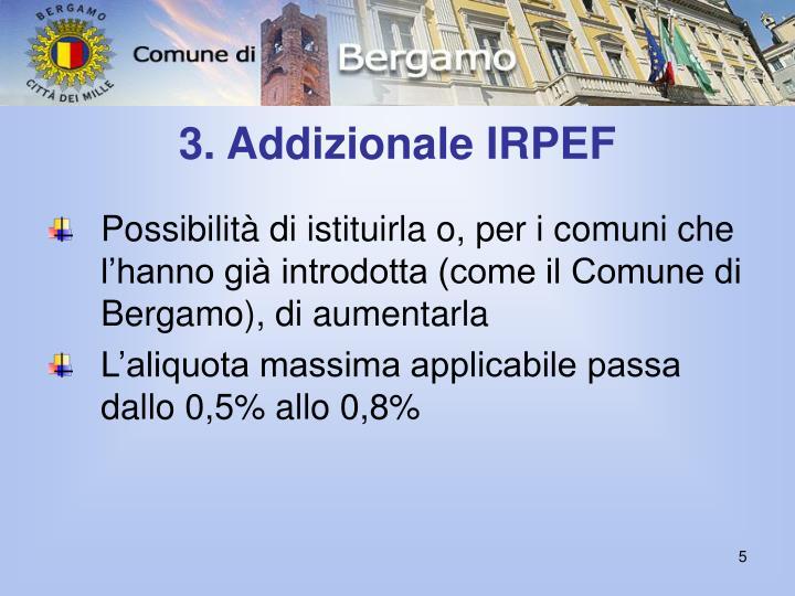 3. Addizionale IRPEF