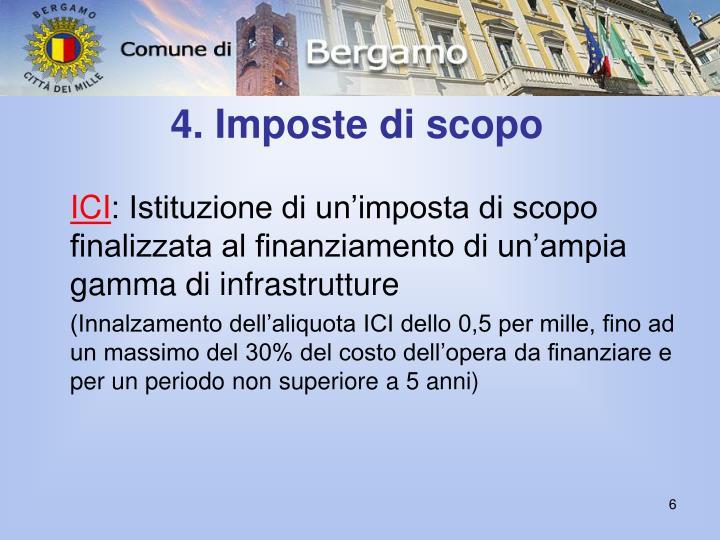 4. Imposte di scopo