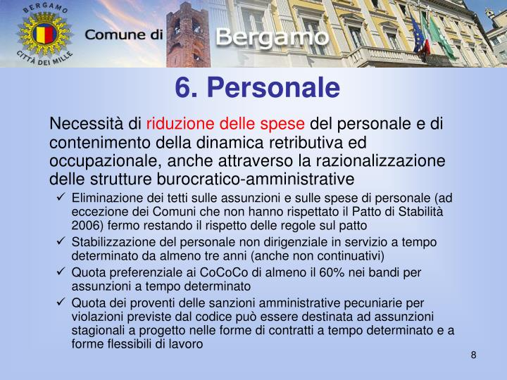6. Personale