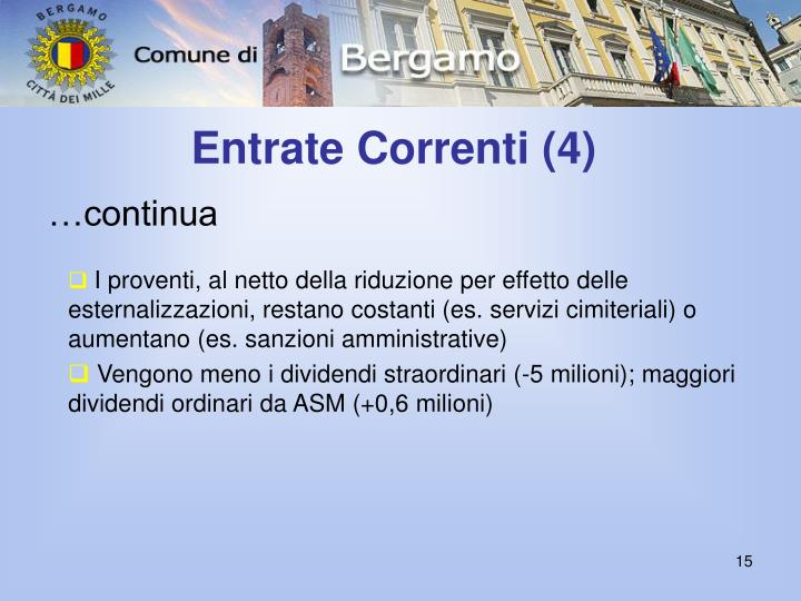 Entrate Correnti (4)