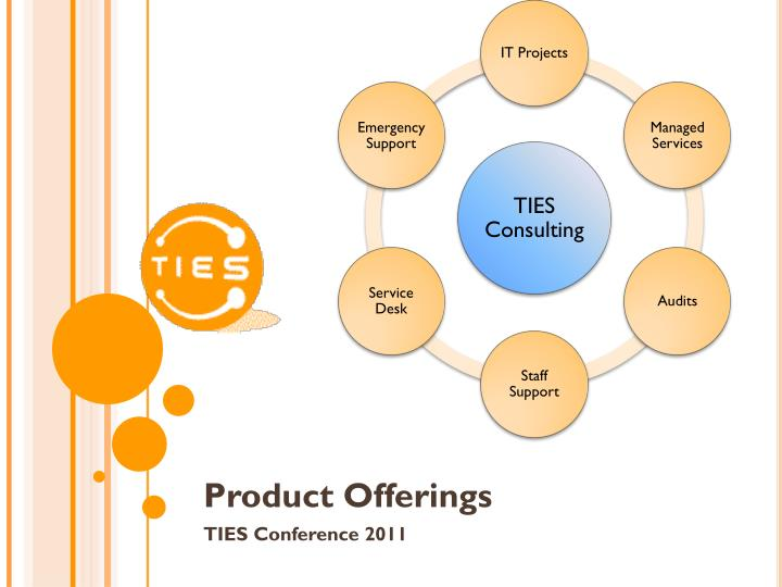 Product offerings ties conference 2011