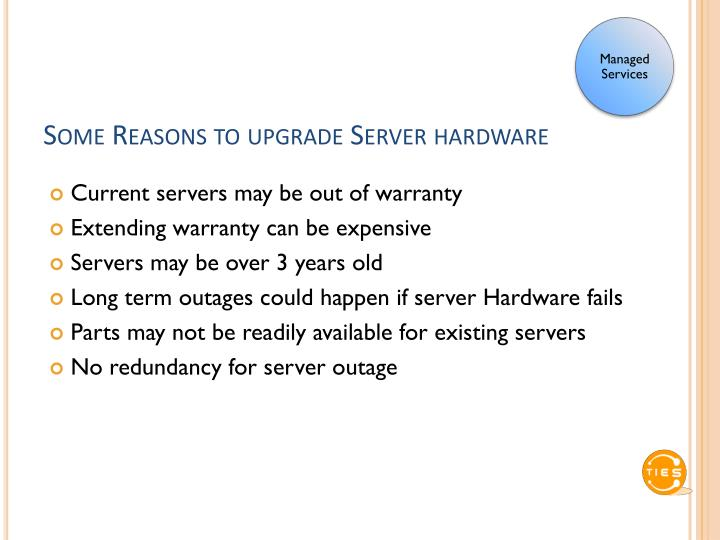 Some Reasons to upgrade Server hardware
